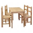 Jídelní stůl + 4 židle CORONA 161611 borovice masiv vosk