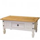 Konferenční stolek CORONA 163910B borovice masiv bílý vosk