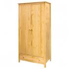 Skříň TORINO 8088 dvoudveřová 1 zásuvka borovice masiv lakovaná