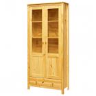 Vitrina TORINO 8073 prosklené dveře se zásuvkou borovice masiv lakovaná