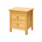 Noční stolek TORINO 8099 dvězásuvky borovice masiv lakovaný