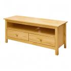 TV stolek TORINO 8094 dvě zásuvky borovice masiv lakovaný