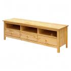 TV stolek TORINO 8093 tři zásuvky borovice masiv lakovaný
