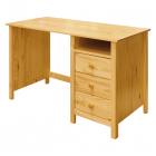 Psací stůl TORINO 8090 tři zásuvky borovice masiv lakovaný