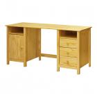 Psací stůl TORINO 8074 dvířka tři zásuvky borovice masiv lakovaný