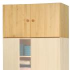Nástavec na skříň  dvoudveřový smrkový masiv lakovaný
