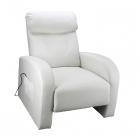 Relaxační a masážní křeslo TOLEDO krémově bílé