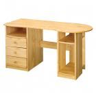 PC stůl 8843 borovice masiv lakovaný