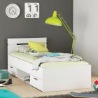 Multifunkční postel MICHIGAN 200 x 90 bílé