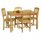 Jídelní set stůl + 4 židle 8849 borovice masiv lakovaný