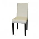 Jídelní židle PRIMA bílá hnědé nohy